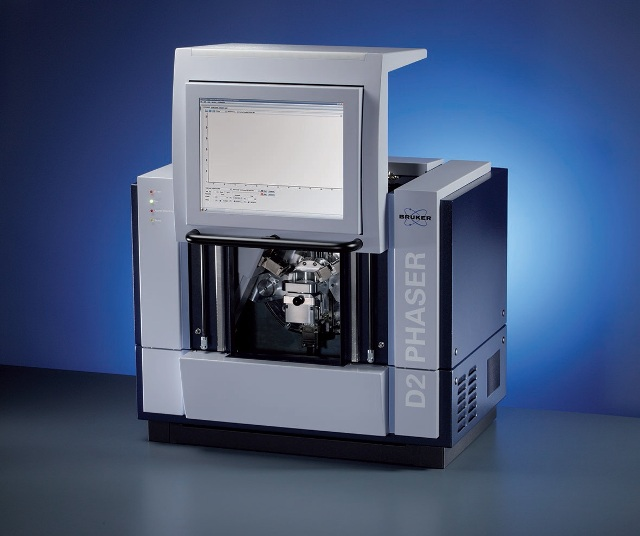 The D2 PHASER benchtop diffractometer.