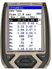 Thermo Scientific Niton XL3t GOLDD+ analyzers are among the range of Thermo Scientific portable XRF analyzers that can give fast, accurate results, such as this analysis of a sample from a porphyry deposit.