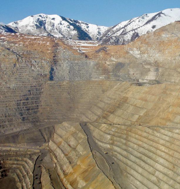 The Bingham Canyon copper mine near Salt Lake City, Utah, USA