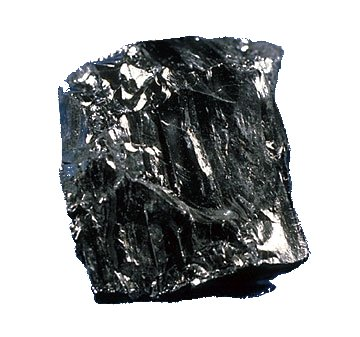 A photo of black, shiny anthracite.