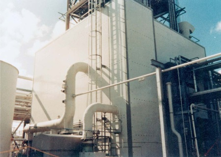 foam core panels pultruded with fiberglass provide a corrosion resistant structure that is highly rigid and strong