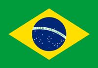The national flag of Brazil.