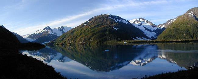 Portage Glacier and Lake Alaska in Alaska.