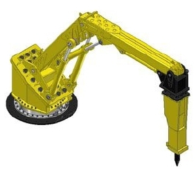 Extreme Heavy Duty Pedestal Boom for Large Gyratory Crusher Applications – RB850 XD