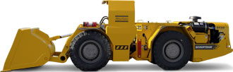 ST2G Underground loader from Atlas Copco