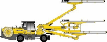 Boomer XE 3C: Face Drilling rig from Atlas Copco