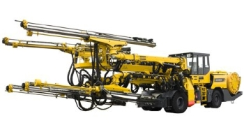 Boomer XE4 C Equipped with COP 3038: Face Drilling Rig from Atlas Copco