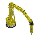 Extreme Duty, 3 Section Pedestal Boom for Gyratory Crushing – the RB900 XD