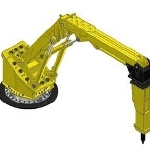 Extreme Duty Pedestal Boom Gyratory Crusher – the RB750 XD from Atlas Copco