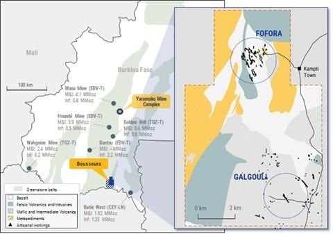 Roxgold Returns High Grade Intercepts Within New Prospect at Boussoura as Drill Program Continues to Expand Mineralized Footprint