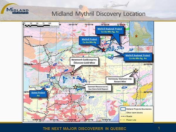 Midland Resumes Exploration Work on Mythril Project