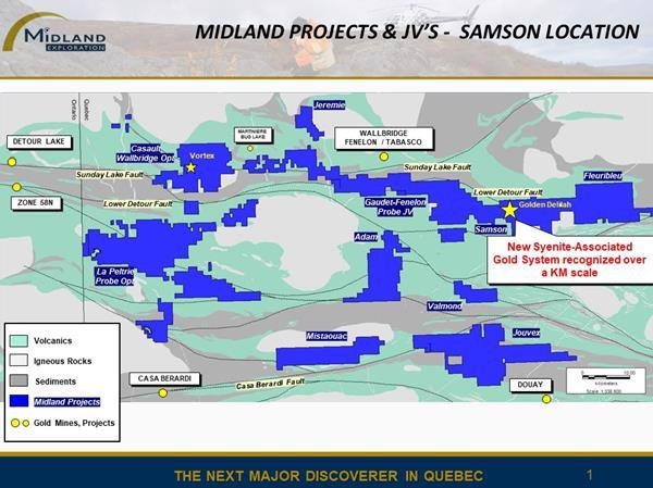 Midland Reports Start of Huge Exploration Program on its Samson Gold Project