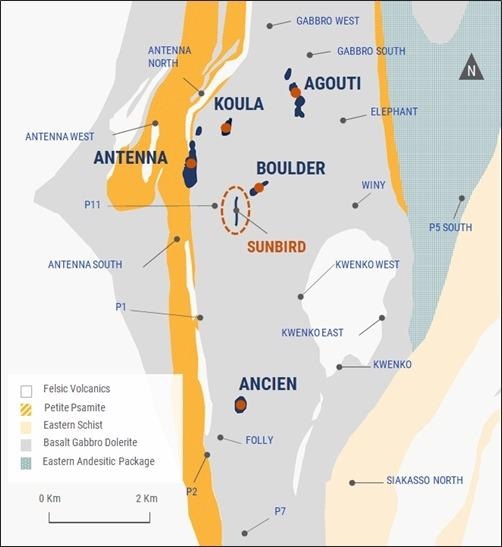 Roxgold Announces New Discovery at Séguéla with 15.6 GPT Over 13m at Sunbird as well as 10.8 GPT Over 6m from Koula Underground Extension Drilling