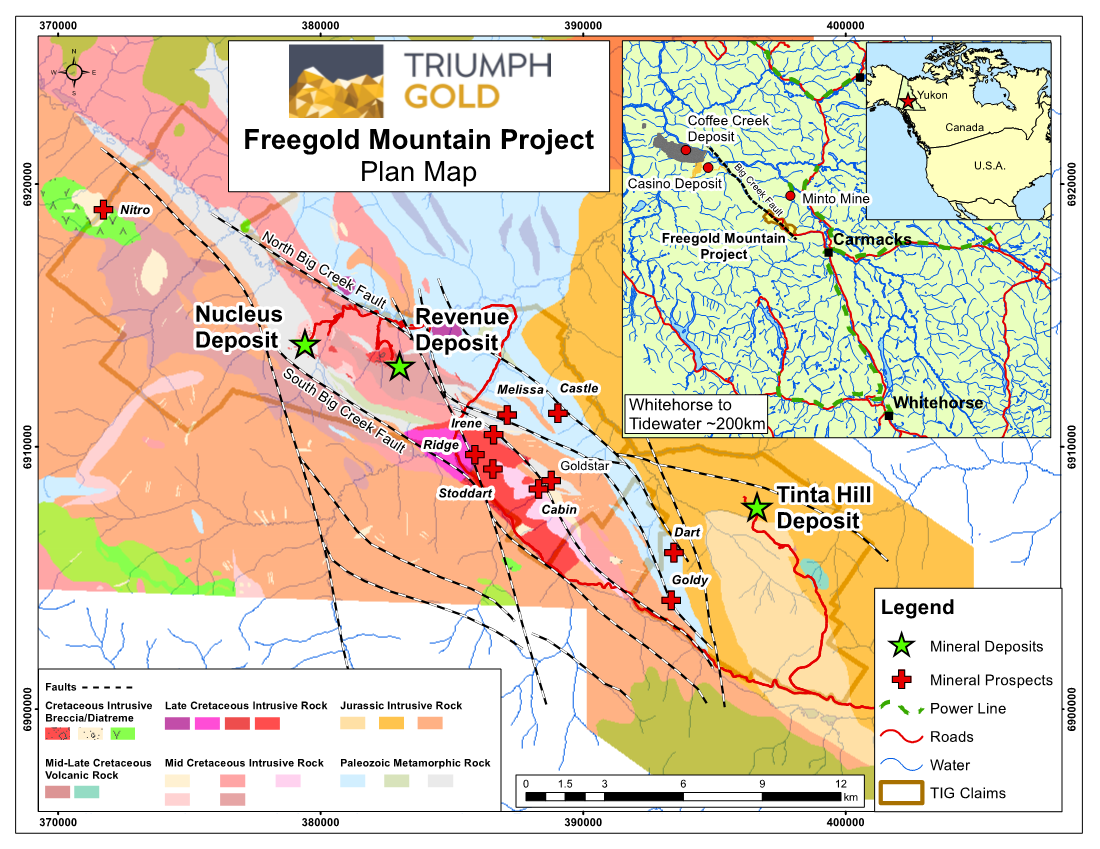 Triumph Gold Gives Update on Exploration Activities of Freegold Mountain Project