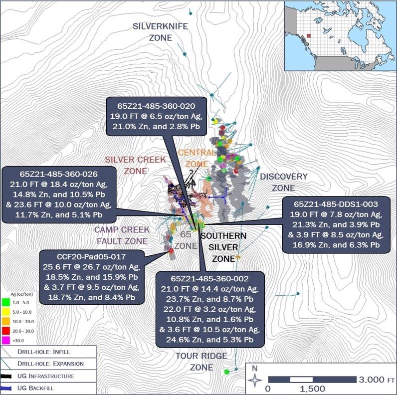 Coeur Provides Silvertip and Crown Exploration Update