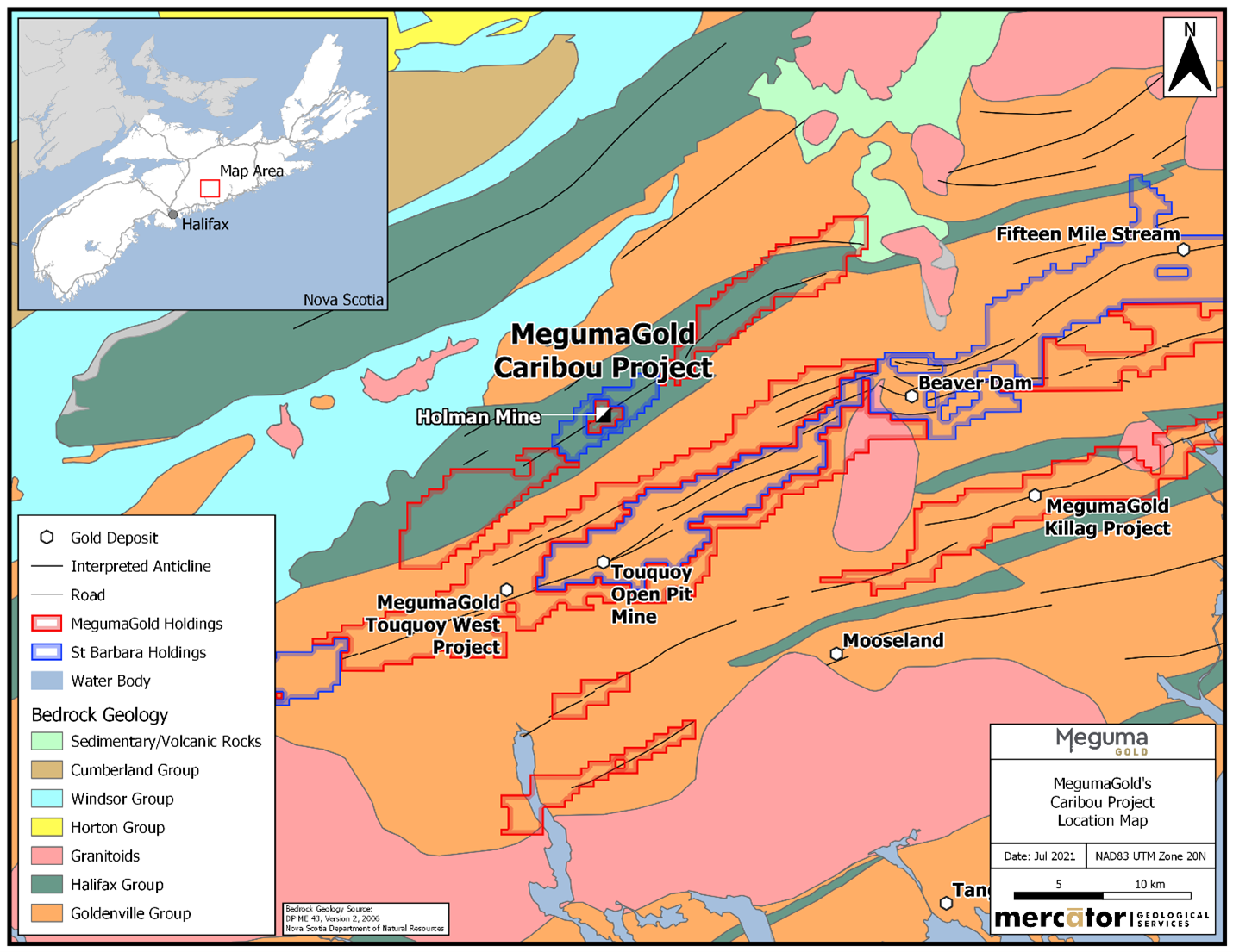 MegumaGold will Start Drilling soon at Caribou Gold Project in Nova Scotia