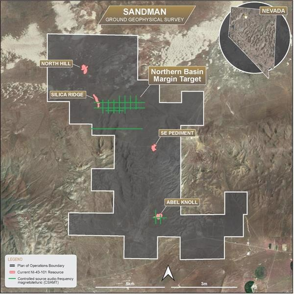 Gold Bull to Refine Drill Targets at its Sandman Project Using Ground Geophysics