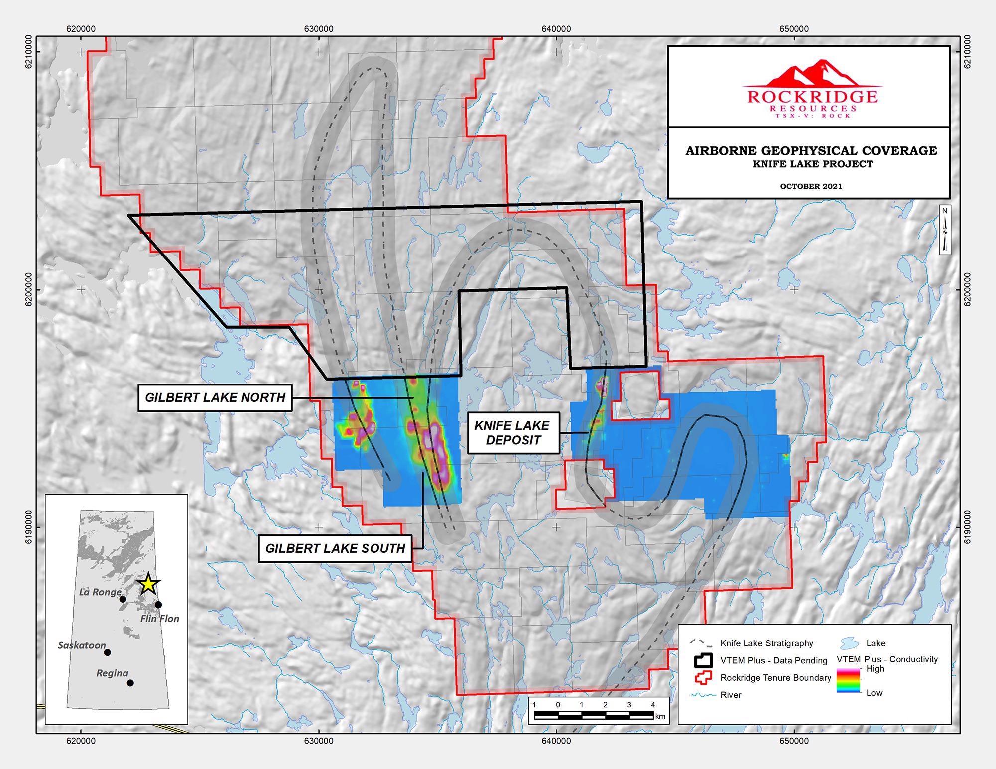 Rockridge's VTEM Geophysical Program Completed at the Knife Lake Copper Project