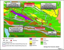 SOQUEM and Imperial Mining Group Begin 2019 Diamond Drilling Program at Carheil Copper-Zinc Project in Quebec