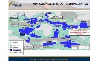 Midland Reports Start of Huge Exploration Program on its Samson Gold Project