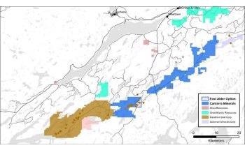 Canterra Signs Option Agreement to Acquire East Alder Gold Project