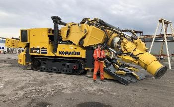Komatsu and Vale Working to Advance the Future of Rock Excavation and Mechanical Cutting Technology