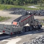 Loading Barges From Trucks Using TU 515R Truck Unloader